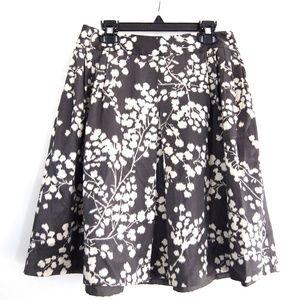 Moulinette Souers Inked Flora Full Silk Skirt 2